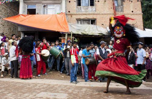 lakhe,festivalis,Nepalas,religija,ritualinis Nepalas,ritualas,kultūra,religinis,šokis,žmonės,šokiai,Liaudies šokiai,Liaudies šokiai,kvadrato šokis