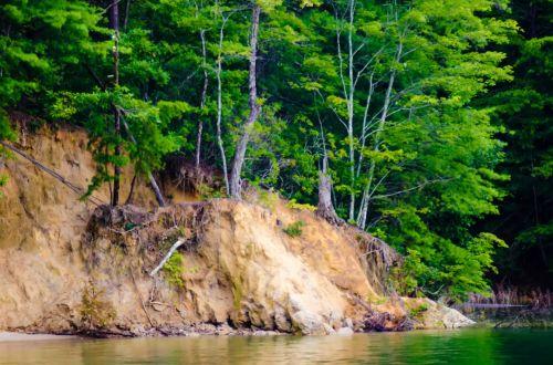 nuotykis, plotas, bazė, grožis, kanjonas, uolos, kranto, pakrantė, diena, erozija, tyrinėjimas, miškas, geologija, žalias, ežeras, žemė, kraštovaizdis, natūralus, gamta, parkas, augalas, upės, žemės erozija ežere