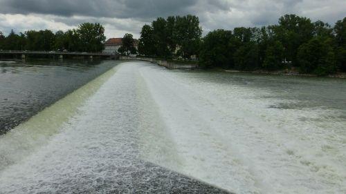 Landsbergas,lech,vanduo,weir,krioklys,pirmenybinė jėga,upė,jėga,kraštovaizdis