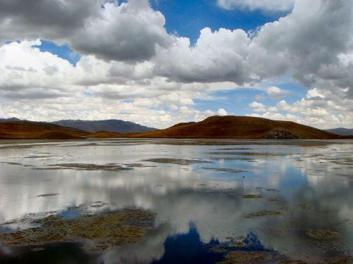 kraštovaizdis,laguna lagunillas,daugiau,nėra žmonių,Peru,andes,Andes aukštumos