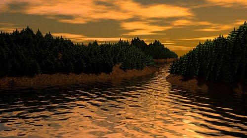 kraštovaizdis, pušis, saulėlydžio, kalnų, miškas, pobūdį, fono pobūdį, Nemokama iliustracijos