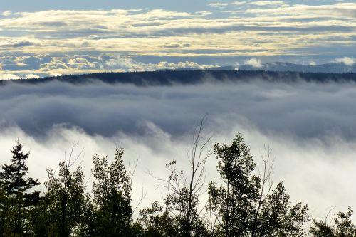 kraštovaizdis,rūko bankas,debesys,dangus,gamta,padengtas rūke,slėnis,sezonas,peizažas,taikus,kaimas,lauke,medis,kalnas,kaimas,ruduo