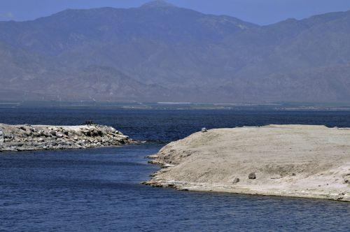 jūra, druska & nbsp, jūra, aplinka, Kalifornija, gamta, vanduo, kraštovaizdis, kalnai, dykuma, ežeras, vaizdas į salono jūrą