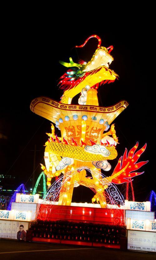 žibintų festivalis,naktinis vaizdas