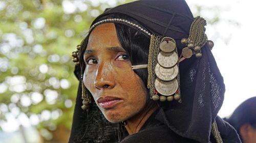 laosas,Akha,gentis,vietiniai,kultūra,asija,portretas,tradicija,etninis,mažuma,žmonės,gentis,tradicinis,moteris,galvos apdangalai,nacionalinis,veidas,galva,asmuo