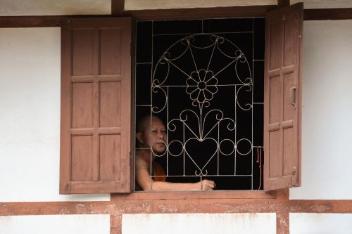 laosas,vientiane,vienuolis