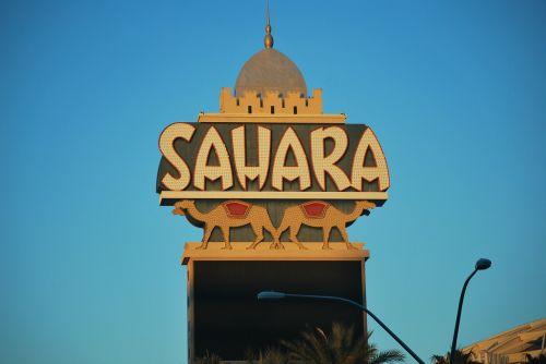 Las Vegasas,sahara kazino,orientyras,architektūra,kazino,ženklas,skelbimų lenta