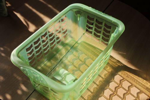 Skalbinių krepšys,krepšelis,plastmasinis,žalias