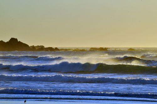 vandenynas, jūra, papludimys, bangos, vanduo, meno, tapybos, eilutės, sluoksniai, mažas, mažos & nbsp, bangos, mažų bangų sluoksniai