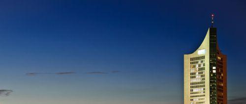 Leipcigas, Vakaras, Pastatas, Architektūra, Fasadas, Namai, Centro, Stadtmitte, Centras, Miestas, Miesto Centras, Dangoraižis, Aukštas, Šešėlis, Perspektyva, Siluetas, Viltis, Perspektyva