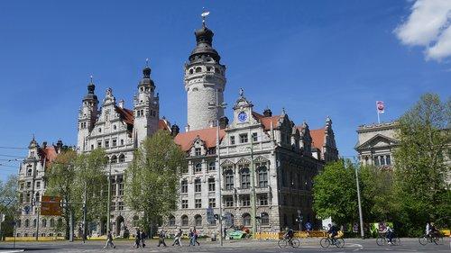 Leipcigas, Lankytinos vietos, statyba, miesto fasadų centras, Lankytinos vietos, nauja rotušė, Turizmas, architektūra