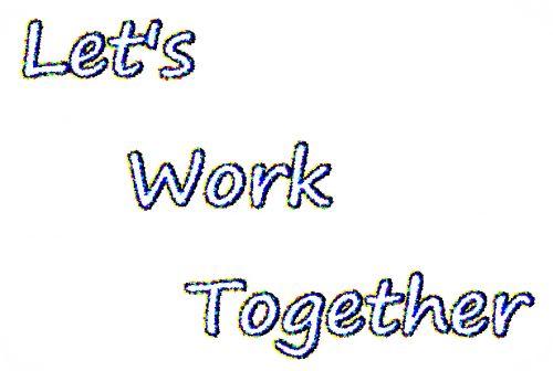 darbas, kartu, verslas, profesija, biuras, komanda, dirbkime kartu