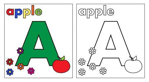abėcėlė, laiškas, a, abėcėlė & nbsp, raidė, dažymas & nbsp, puslapis, dažymas, knyga, puslapis, obuolys, spalvinga, tekstas, žodžiai, gėlės, šviesus, menas, iliustracija, Scrapbooking, raidė spalvinimo puslapis