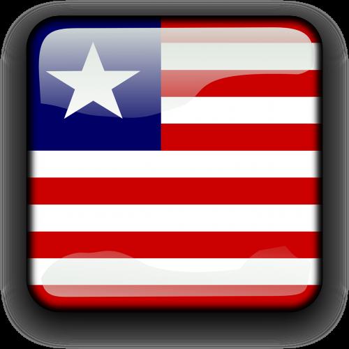 Liberia,vėliava,Šalis,Tautybė,kvadratas,mygtukas,blizgus,nemokama vektorinė grafika