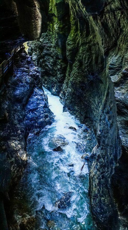 liechtensteinklamm,Gorge,austria,vanduo,akmenys,gamta,kraštovaizdis