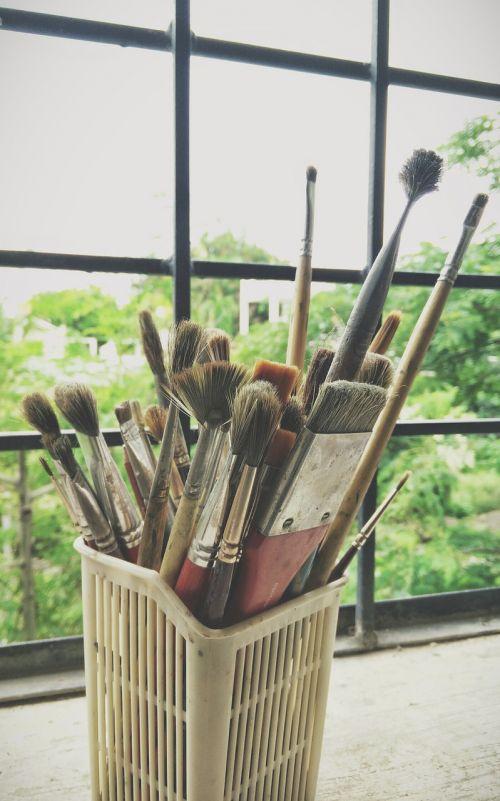 gyvenimas, grožis, scena, menininkas, dailininkas, menas, šepečiai, akvarelė