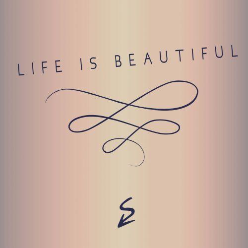 gyvenimas, gražus, tekstas, pranešimas, meilė, teksto siuntimas, gradientas, fonas, išgalvotas, šriftai, informacija, gyvenimas yra gražus