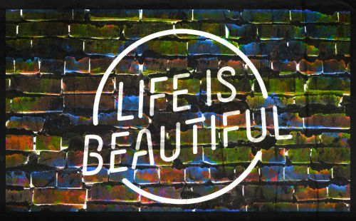 ženklas, Grunge, sluoksniuota, meno, plytos, vaivorykštė, spalvinga, gyvenimas & nbsp, & nbsp, gražus, gyvenimas, gražus, įkvėpimas, įkvepiantis, motyvacinis, ženklai, plakatas, gyvenimas yra gražus ženklas - # 5