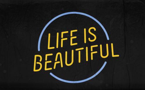 gyvenimas, gražus, ženklas, ženklai, mėlynas, geltona, plakatas, juoda, įkvėpimas, įkvepiantis, žodžiai, ikvepiantis, motyvacija, motyvacinis, gyvenimas yra gražus ženklas Nr. 7