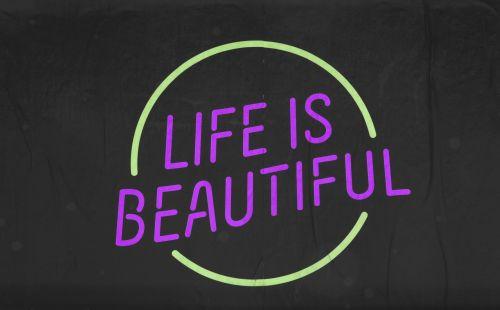 gyvenimas, gražus, ženklas, ženklai, juoda, įkvėpimas, įkvepiantis, žodžiai, ikvepiantis, motyvacija, motyvacinis, plakatas, violetinė, geltona, gyvenimas yra gražus ženklas # 9