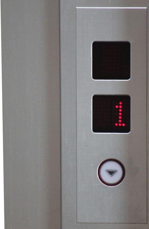 liftas,Liftas,vienas,žemyn,viešbutis,grindys,skydas,pakeliamas