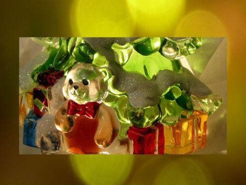 žibintai, žėrintis, apšviesta, turėti, dovanos, xmas, Kalėdos, Bokeh, raudona, auksas, žalias, glittery, putojantis, apšviesta lydere ir dovanos