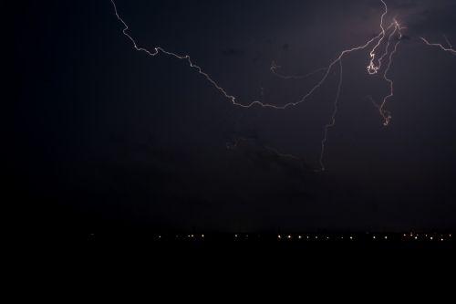 žaibas,griauna,naktis,griauna,dangus,ilga ekspozicija,juoda