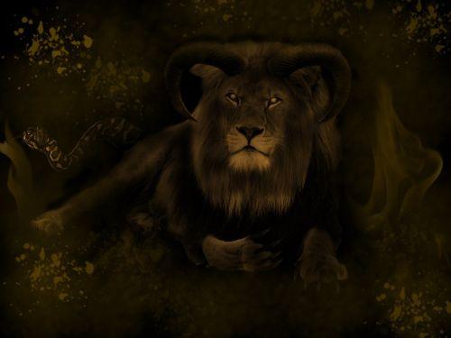 liūtas,menas,skaitmeninis,niūrus