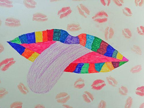 lūpos, Burna, kūno dalys & nbsp, anatomija, menas, kūrybingas, žmogus, žmogaus kūnas, amatai, iliustracija, lūpos