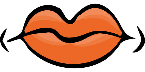 lūpos,organas,Žmogaus kūnas,Burna,uždaryta,kūnas,veidas,oranžinė,veido,nemokama vektorinė grafika