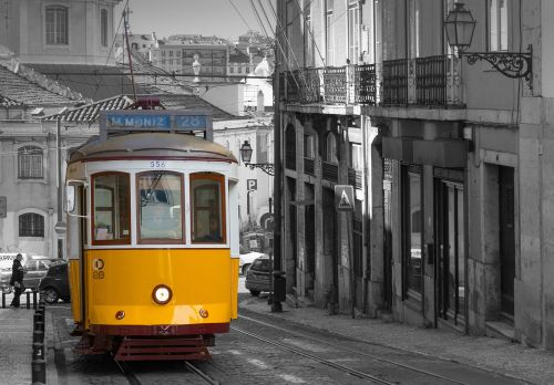 lisbonas,tramvajus,istoriškai