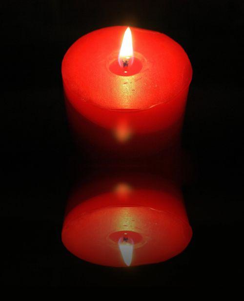 žvakė, vaškas, liepsna, atspindys, apšviesta žvakių refleksija