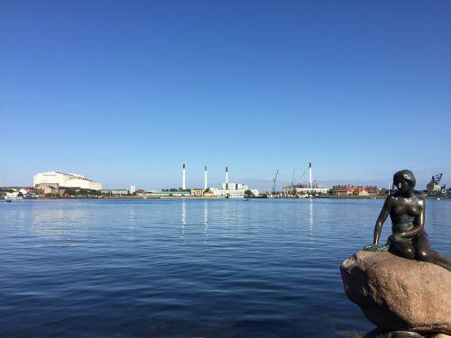 maža undinė,denmark,jūra,mažoji undinė,Kopenhaga,statula