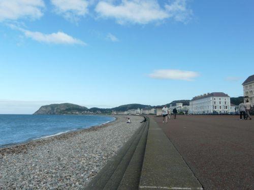 Landudno, papludimys, Šiaurė, Velso, pajūryje, jūra, akmenukai, Llandudno paplūdimys