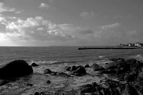 jūra, vandenynas, gamta, vanduo, laukiniai, juoda & nbsp, balta, vandenynas