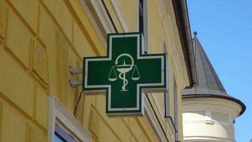 logo pharmacy, vaistinė, banner pharmacy, slovak logo pharmacy, vaistinė-kryžius, be honoraro mokesčio