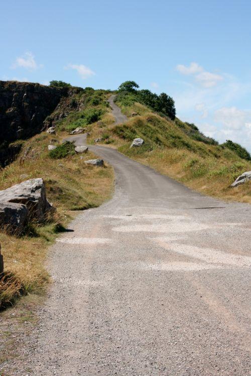 į kalną, ilgai, vijimas, kelias, uolingas, vasara, tuščia, kaimas, devon, juostos, kelias, saulėtas, nuotykis, ilgas & amp, vingiuotas kelias