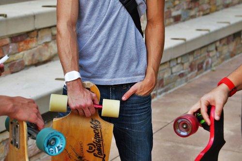 Longboard, skate, čiuožimo, kabantis