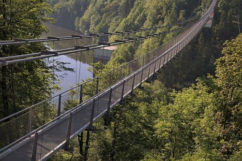 ilgiausias pėsčiųjų pakabos tiltas,rappbodetalsperre,derva,pasaulio rekordas