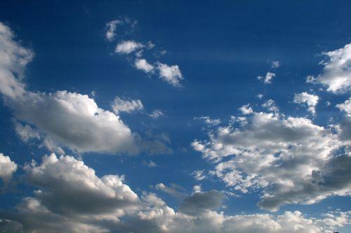 debesis, laisvas, balta, dangus, mėlynas, laisvas debesis
