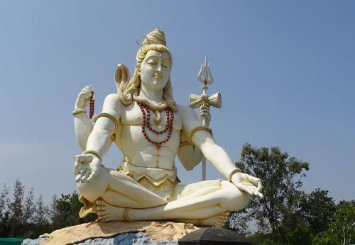 Viešpatie šiva,statula,dievas,hindu,religija,architektūra,shivagiri,85 pėdos,aukštas,haspur,shivapur,piligrimystė,Karnataka,Indija