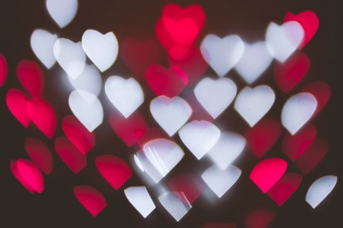 meilė,Bokeh,širdis,žibintai,abstraktus,tekstūra,valentines