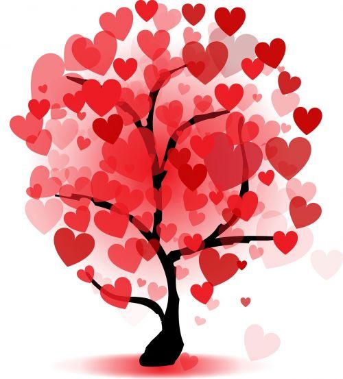 meilė, romantika, gamta, lapai, stalinis kompiuteris, širdis, valentine, medis, be honoraro mokesčio