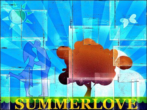 fonas, meilė, vyras, moteris, vasara, atvirukai, plakatai, sauermaul, meilė vasarą