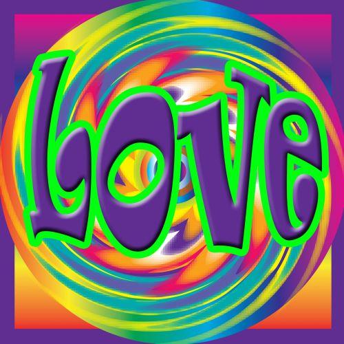meilė, 70-ųjų stiliaus, Photoshop, ryški & nbsp, spalvos, meilė meilė meilė...