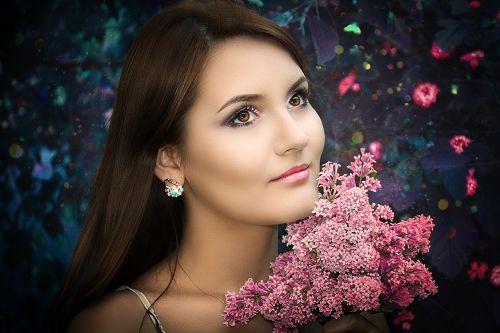 mielas, moteris, mada, portretas, mergaitė, modelis, gėlė, asmuo, gražus, žavesys, jaunas, brunetė, mielas, be honoraro mokesčio