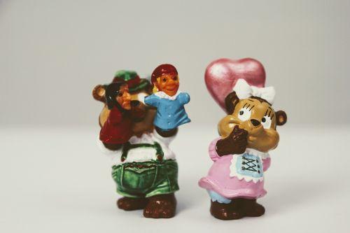 mėgėjai,žaislai,überraschungseifigur,pora,meilė,širdis,flirtuoti
