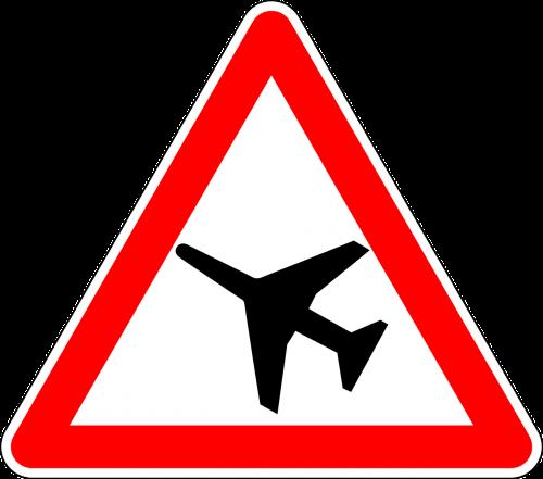 žemos klasės orlaivis,kelio zenklas,ženklas,kelio ženklas,kelio ženklas,įspėjamasis ženklas,kelio ženklas,eismo ženklas,įspėjimas,raudona,mažai plaukioja,orlaiviai,nemokama vektorinė grafika