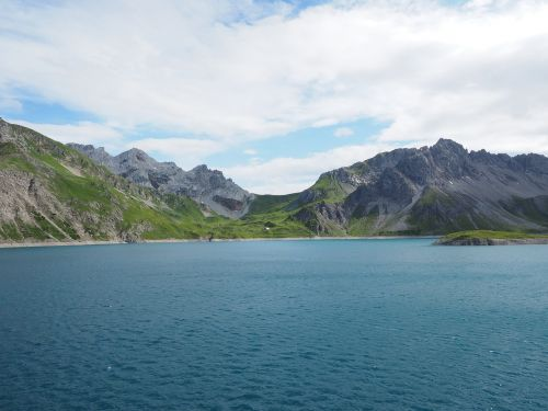 luenersee,ežeras,Alpių ežeras,kalninis ežeras,vanduo,brandnertal,vorarlbergas,austria,kalnai,Alpių,kanceliarinės galvutės,Kirchlispitze,lüner ežeras