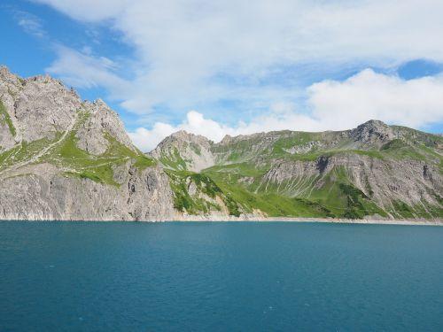 luenersee,schafgafall,brandnertal,vorarlbergas,austria,kalnai,Alpių,ežeras,Alpių ežeras,kalninis ežeras,vanduo,zaluandakopf,rossberg,lüner ežeras